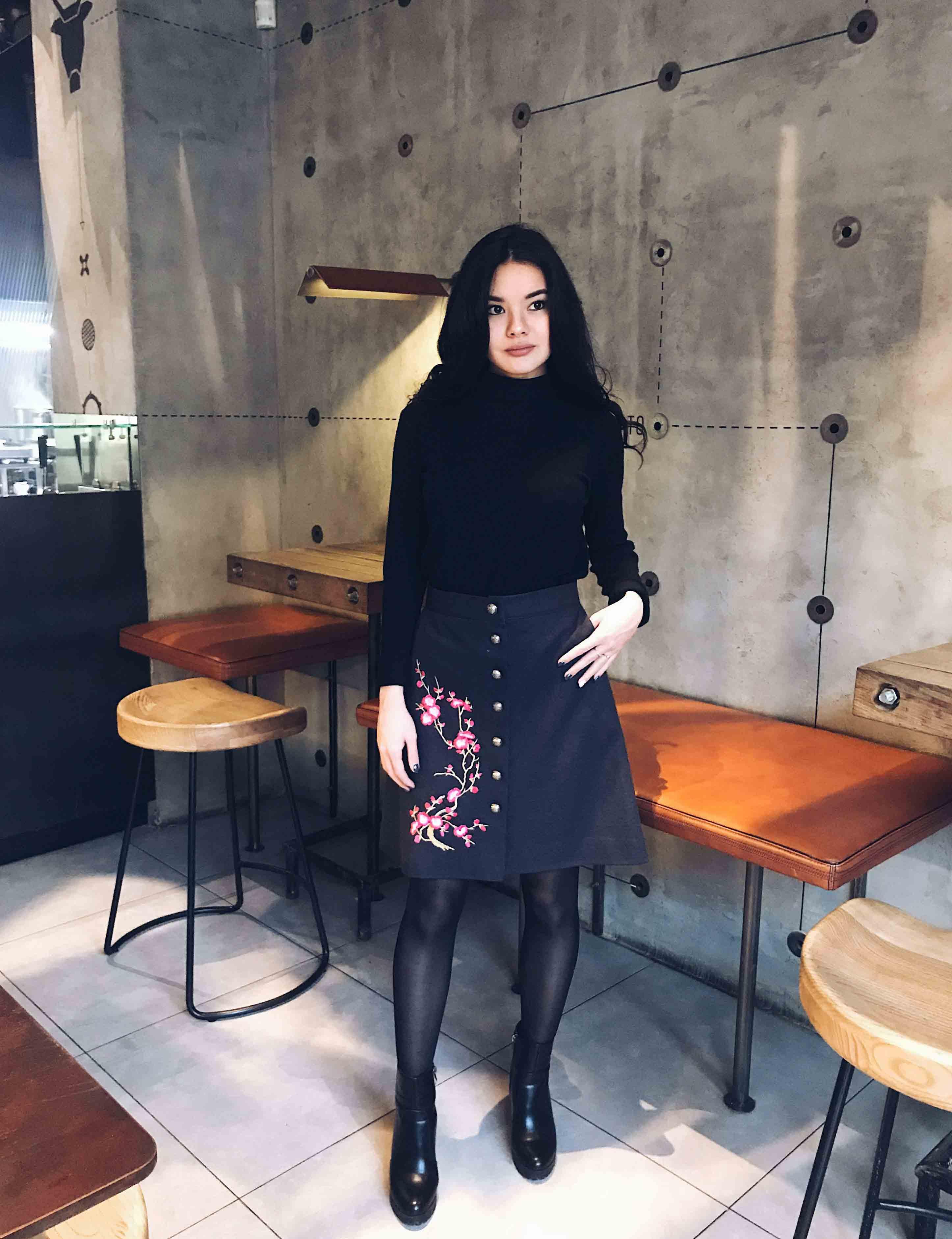 Теплая юбка Сакура