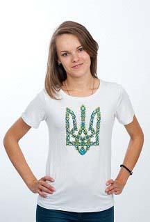 Женская футболка с вышивкой Герб
