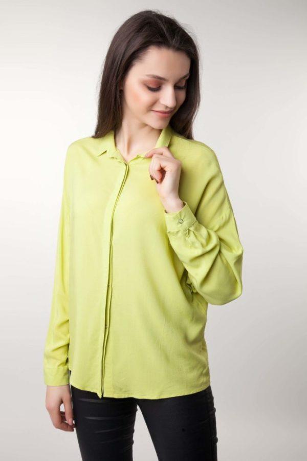 Женская рубашка оверсайз канарейка
