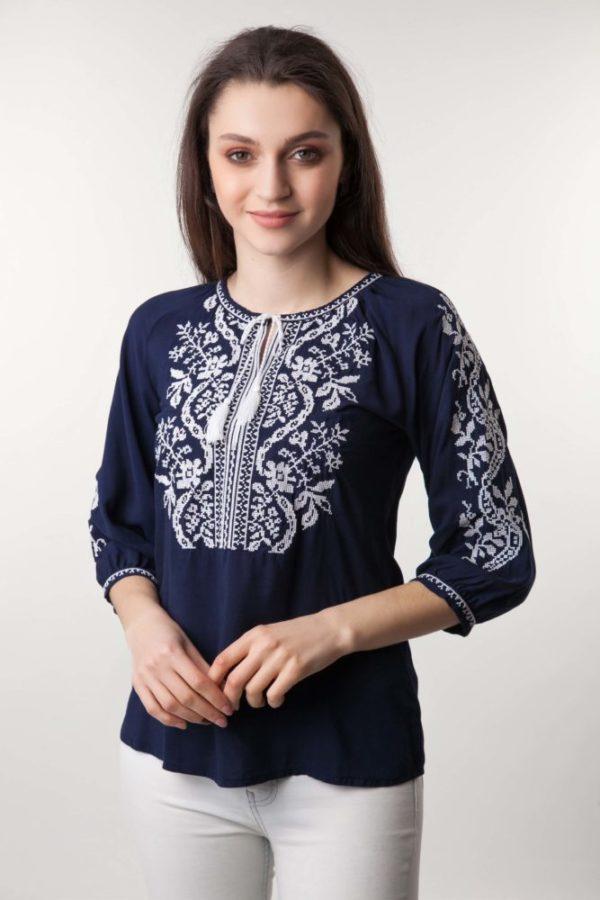 Женские вышиванки с коротким рукавом