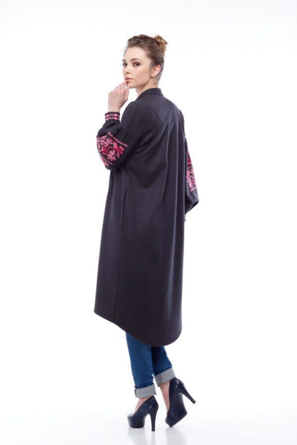Кардиган с вышивкой Ломаная ветка шерсть