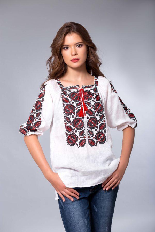 Женская вышиванка Этно бордо