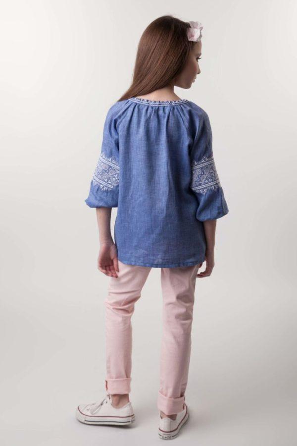 Вышиванка для девочки Твори мир джинс