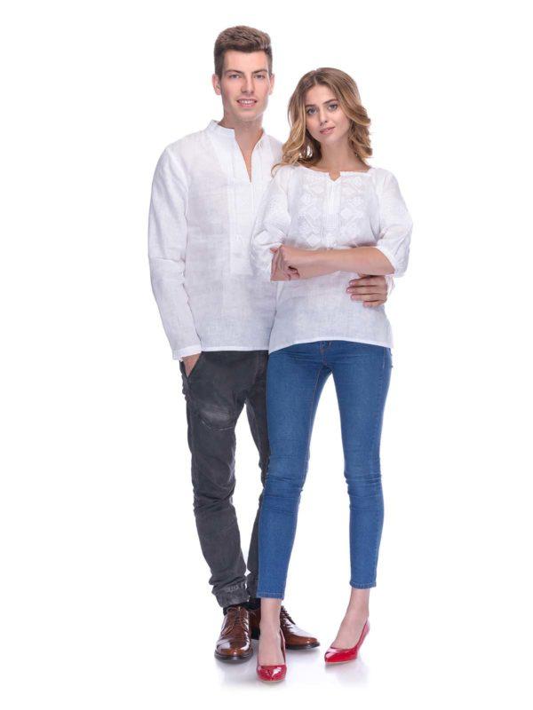 Вышиванки для всей семьи белым по белому