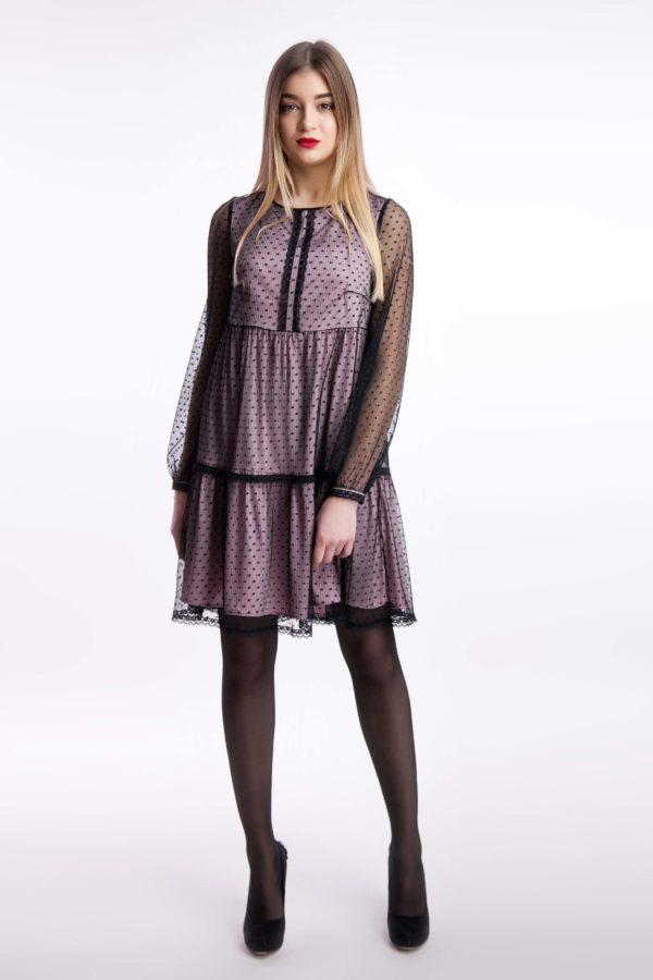 Вечірня сукня атлас сітка