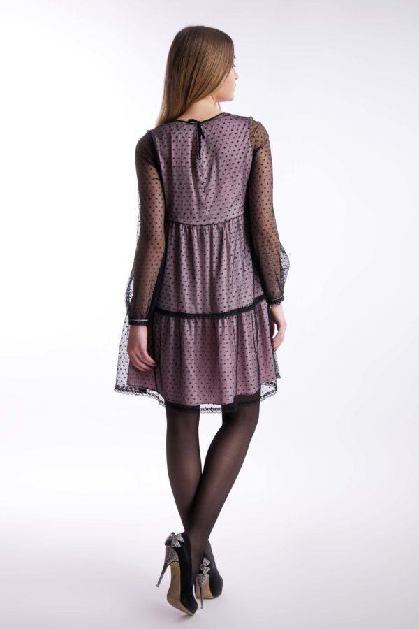 Вечернее платье сетка атлас
