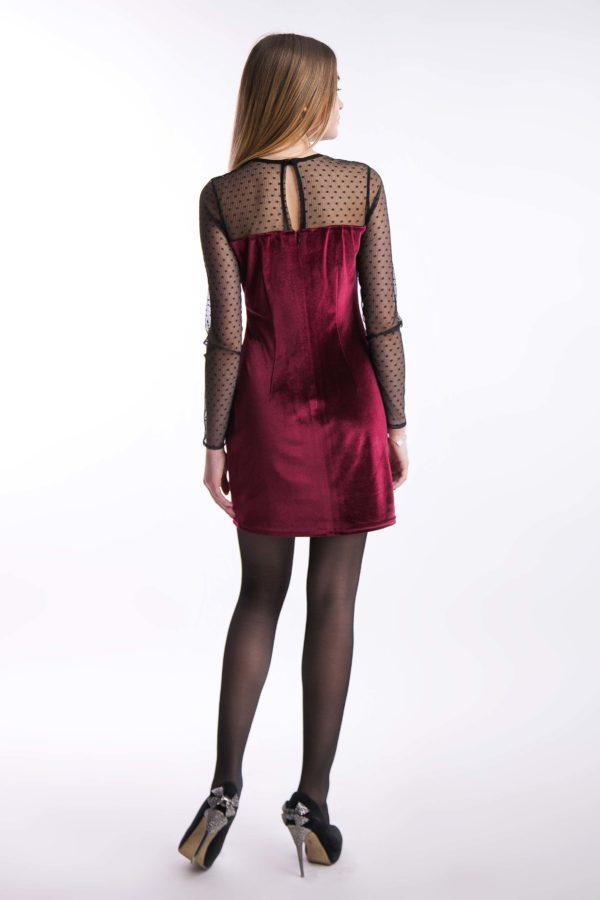 Вечернее платье бордо бархат