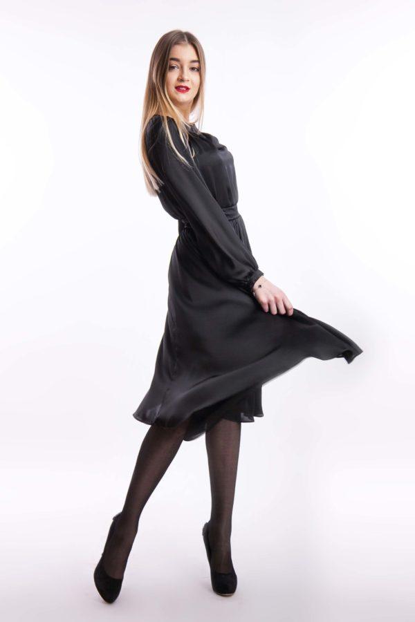 Вечернее платье платье черно шелк