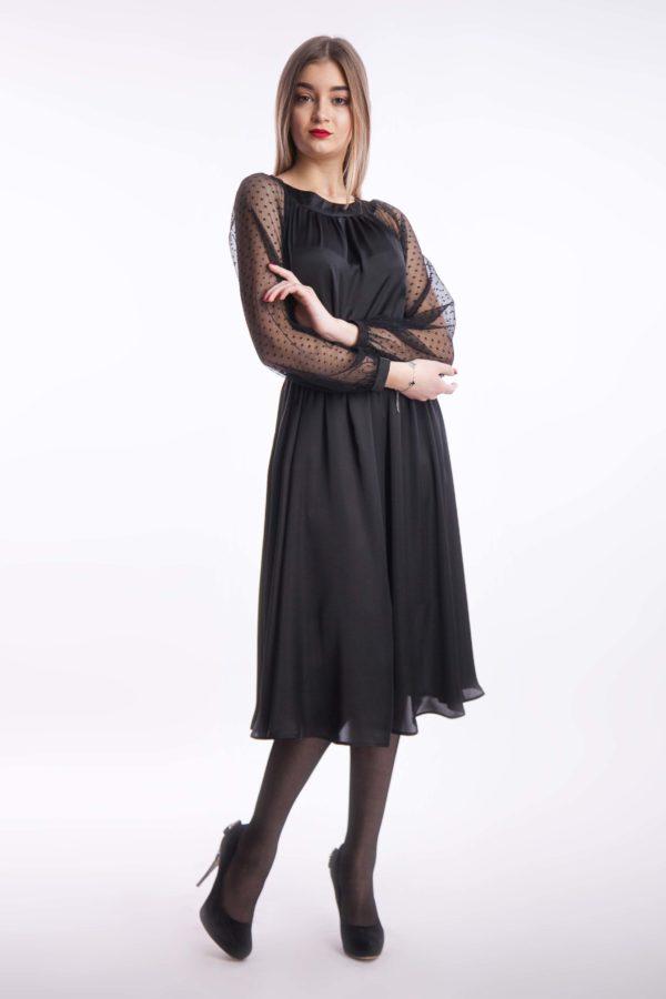 Вечірня сукня армані чорна міді