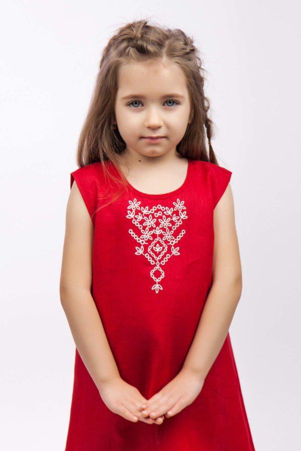 Сарафан для девочки Цветочек красный