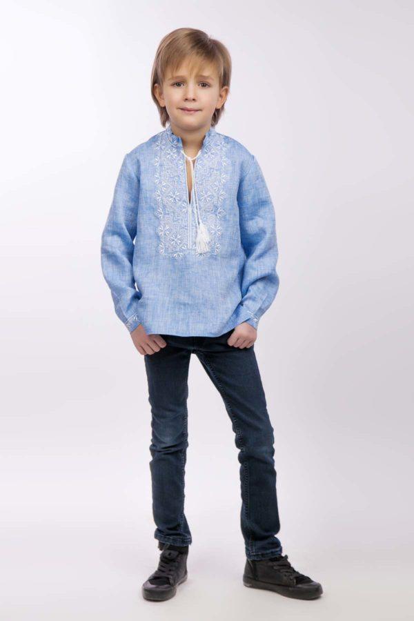 Вышиванка для мальчика светлый джинс