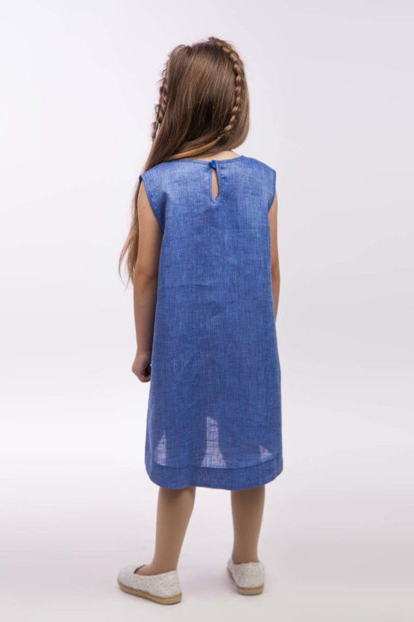 Сарафан для девочки Цветочек джинс