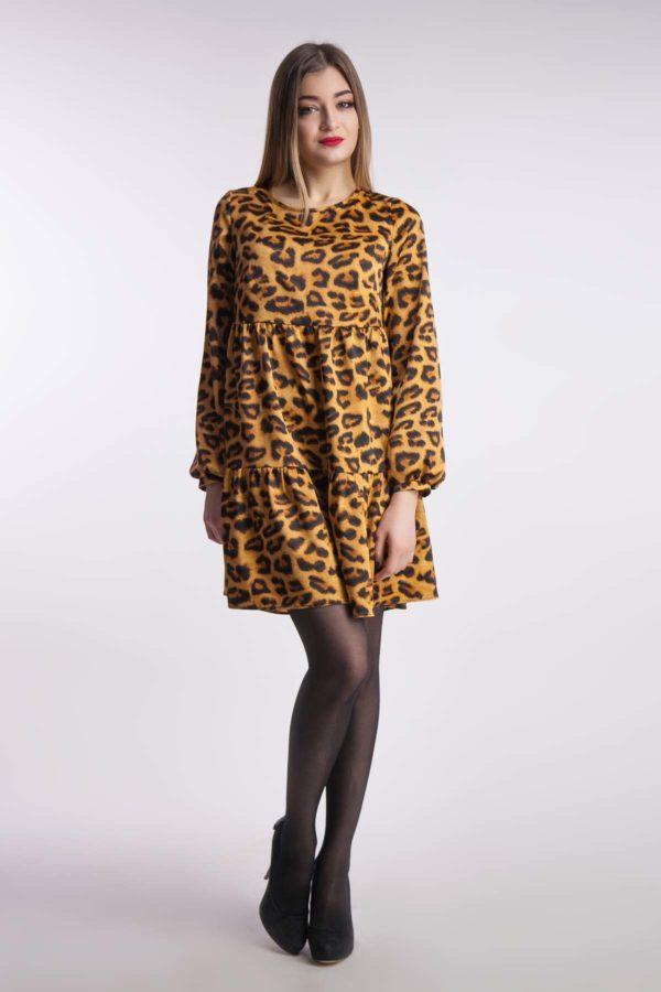 Вечернее платье леопард
