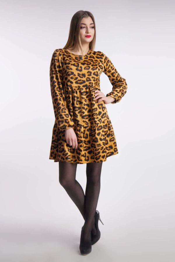 Вечіря сукня, леопард
