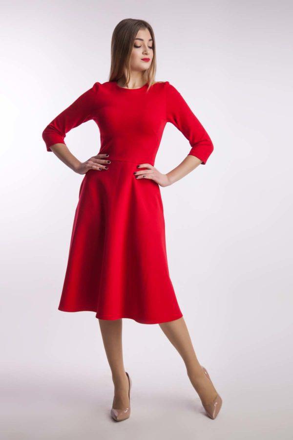 Сукня миди, червона