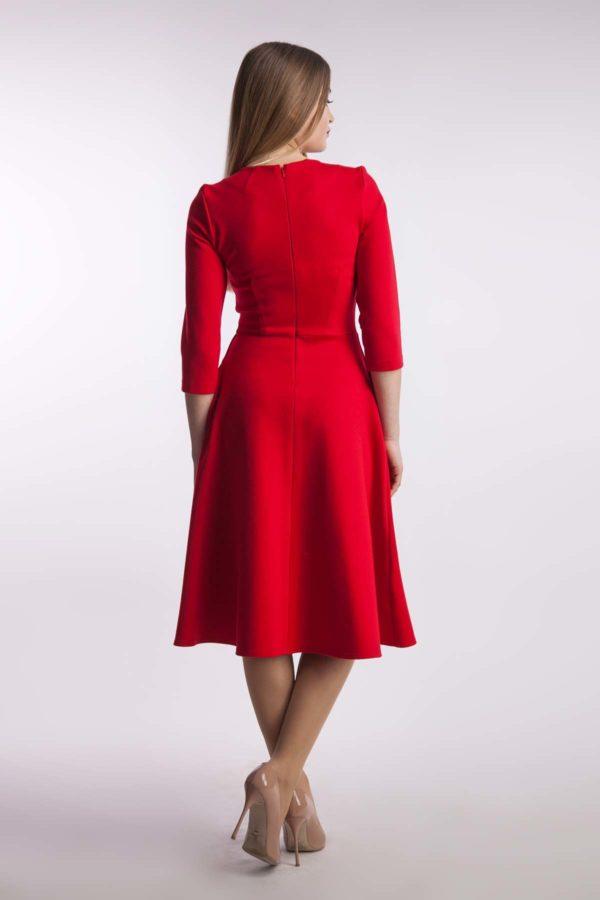 Платье миди красный