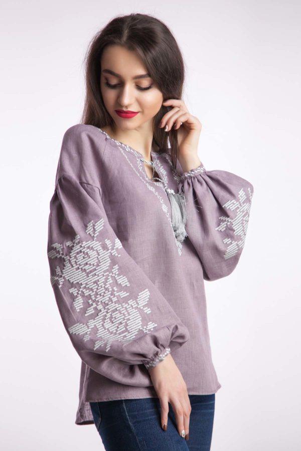 Женская вышиванка Роскошь лиловый
