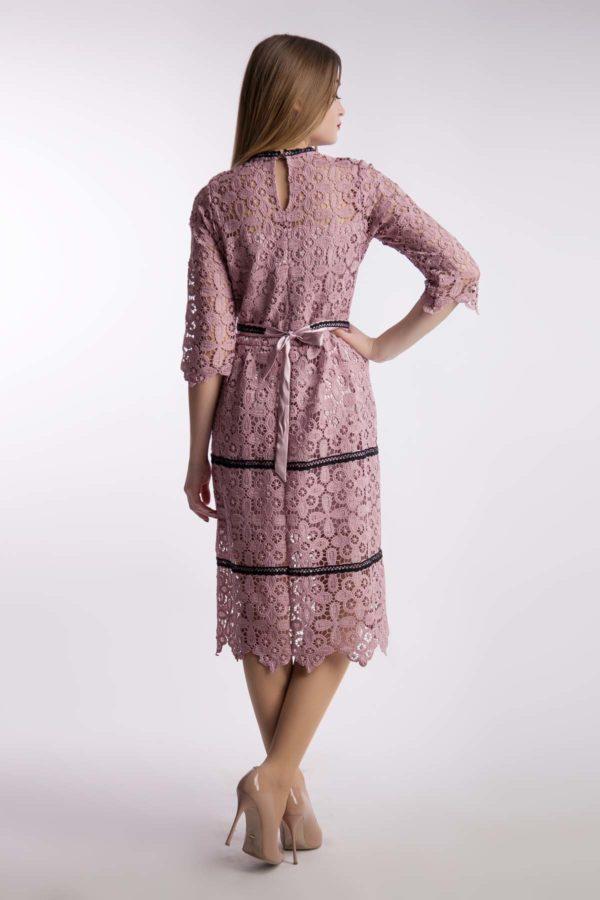 Вечірня сукня, пудра, бавовняне мереживо