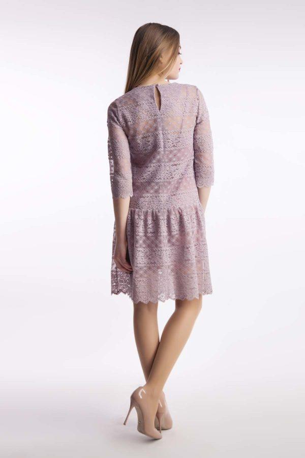 Вечернее платье кружево пудра