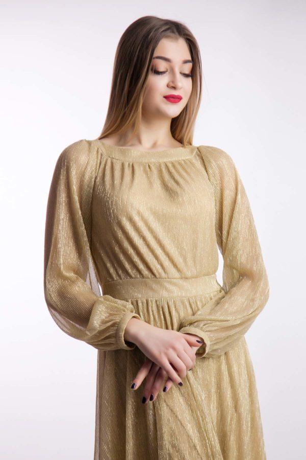 Вечернее платье золото