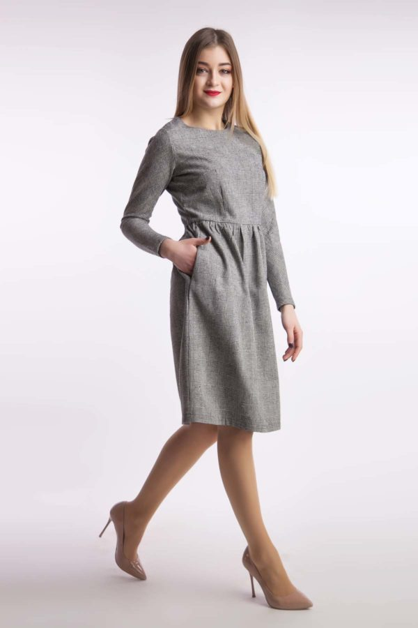 Платье гусиная лапка