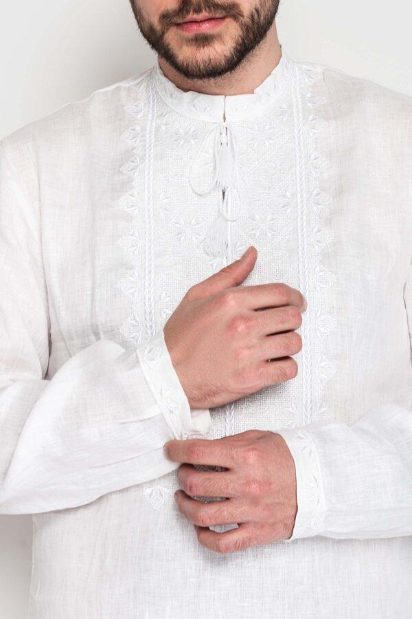 Чоловіча вишиванка Твори мир білим по білому