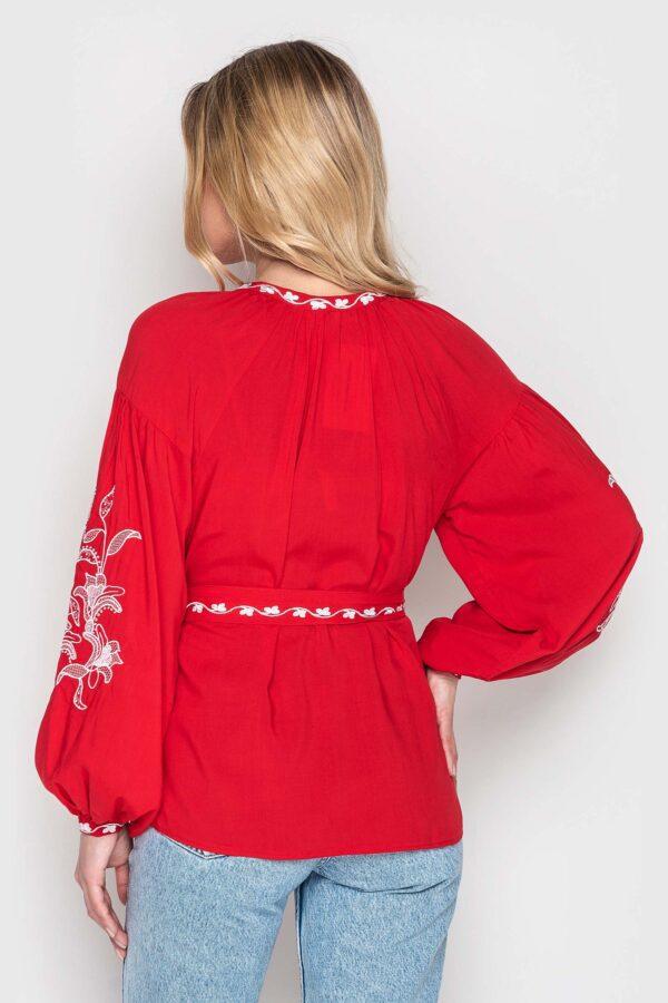 Вишиванка червона жіноча Гармонія